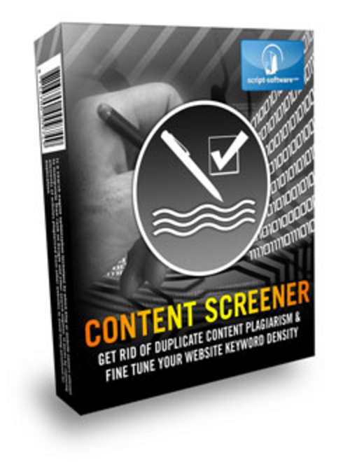 Product picture Content Screener Software - Basic Resale Rights Included